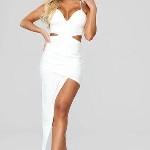 Mixed Feelings Asymmetrical Dress - White